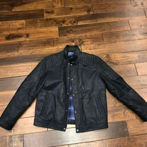 Men's marks and spencer leather jacket